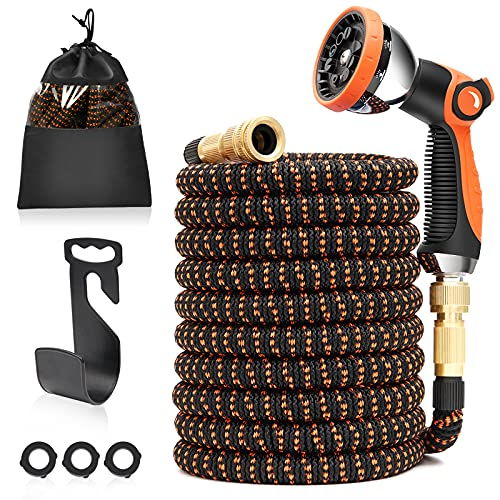 50ft Expandable Garden Hose, U ULTTY Lightweight Leakproof Water Hose with...