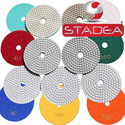 Buy Discount diamond polishing sanding grinding pads discs- For Granite Concrete Stone Marble Polishing 10 Pcs Grit 50 By STADEA (Renewed)