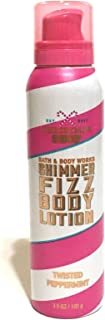Bath & Body Works Shimmer Fizz Lotion Twisted Peppermint