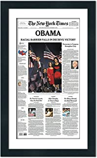 Black Newspaper Frame with Mat - for Media Measuring 11.25x13.75 Inches