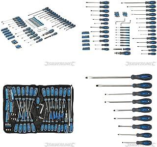 Silverline 283983 Screwdriver Set 100 st. skruvmejselsats 100 delar Blue Pantone 300C/grå 431c