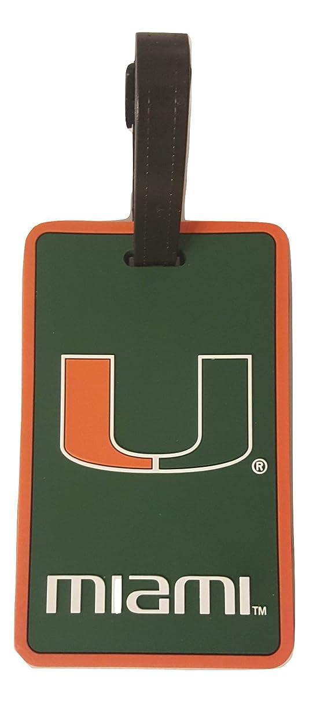 aminco NCAA Miami Hurricanes Soft Bag Tag, U Logo