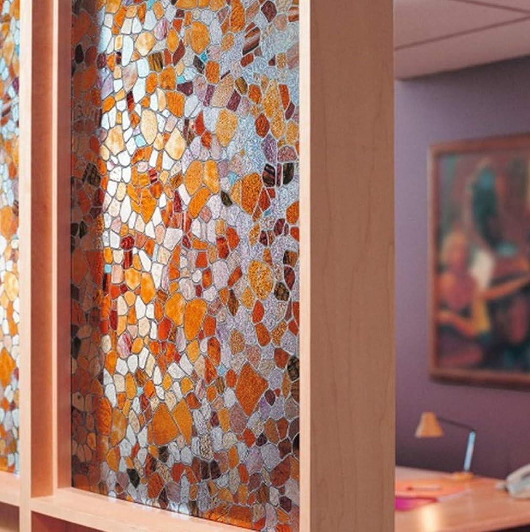異なる肉腫鋼ガラスフィルムウィンドウフィルムカラフルな粘着ガラスウィンドウステッカー装飾的なPVCフロストガラス不透明な窓ガラスフィルムステッカー