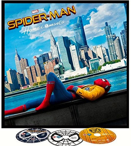 Spider-Man Homecoming Blu-ray BIG SLEEVE EDITION. Includes Exclusive 12' Arts, DVD's, 12 Page Comic and More! REGION FREE