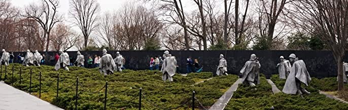Posterazzi PPI149149S Statues of Soldiers Korean War Memorial The Mall Washington DC USA Poster Print, 27 x 9