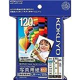 コクヨ インクジェット 写真用紙 印画紙原紙 高光沢 L判 120枚 KJ-D12L-120