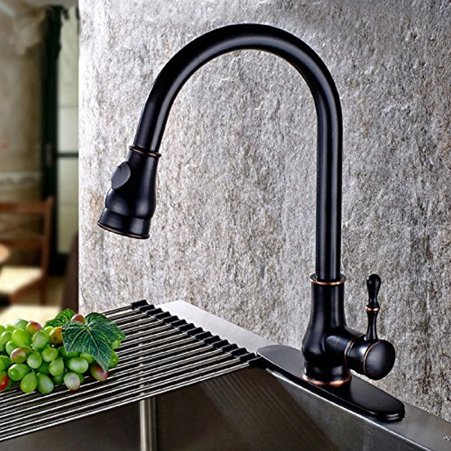 ETERNAL QUALITY Bathroom Sink Basin Tap Brass Mixer Tap Washroom Mixer Faucet Antique simple full copper hot and cold kitchen sink faucet kitchen faucet a whole. Kitchen