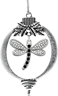 Inspired Silver - 2.0 Carat Dragonfly Charm Ornament - Silver Customized Charm Holiday Ornaments with Cubic Zirconia Jewelry