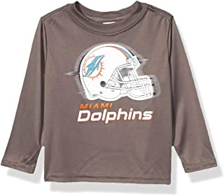Boys Long Sleeve Grey Logo TEE Shirt