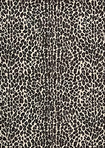HJFGIRL Leopard Design Teppich Modern Large Learning Teppiche Persönlichkeit Kinderzimmer Matte Bodenmatte Für Wohnzimmer Schlafzimmer Küche Nachttisch,150x200cm(59x79inch)