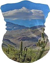 PINLLG Desert Scenery Cactus Natuur Bandana met Filter Gezicht Cover Wasbare Hoofdband voor Stof Sport Magic Sjaal Neck Ga...