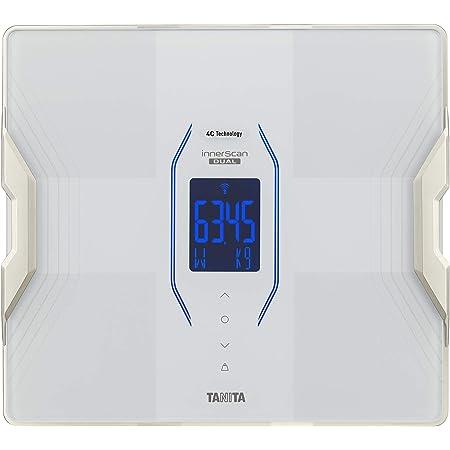 タニタ 体重 体組成計 スマホ 50g 日本製 ホワイト RD-915L WH 医療分野の技術搭載/スマホでデータ管理 インナースキャンデュアル