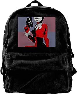 Mochila de lona Harley Quinn para gimnasio, senderismo, portátil, bolsa de hombro para hombres y mujeres