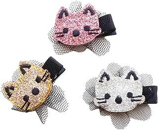 6PCS Cartoon BB Adorable Owl Hair Clips Glitter Hairpin Barrette for Baby Girls Children