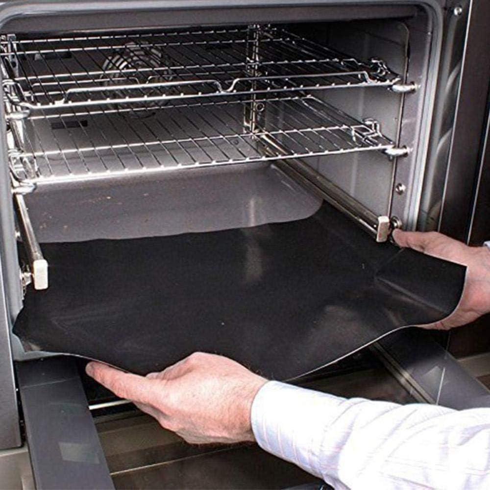 showsing Tapis pour Griller Barbecue Plaque de Barbecue et Pâtisserie en Silicone Black-2Pcs 2Pcs