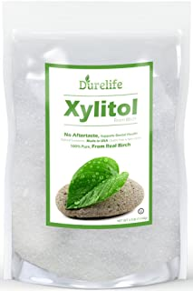 DureLife Birch XYLITOL Sugar Substitute Made in the USA from Non GMO Pure & is a Great Natural Alternative for Diabetics Packaged in Resalable Stand Up Pouches, 2.5 lb, 40 oz