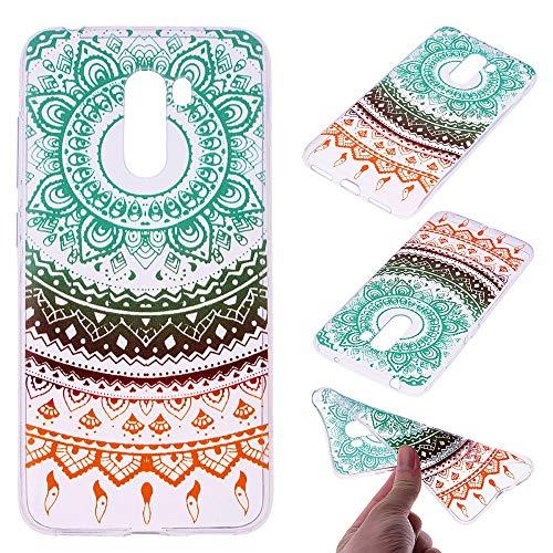 CoverKingz Funda de teléfono móvil para Xiaomi Pocophone F1, diseño de silicona, carcasa trasera con impresión fina, diseño de mandala, multicolor