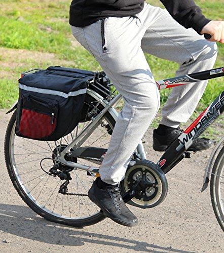 polomar bicicleta de equipaje bolsa de sillín Bicicleta Alforja para mochila