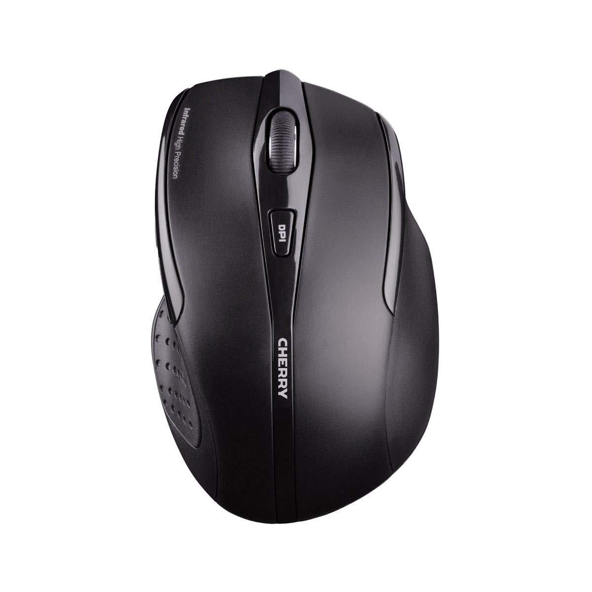 Cherry MW 3000 Wireless Mouse 2.4 GHz w/Nano USB Receiver, Black (UW7691)