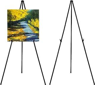 VAIIGO Caballete de Pintura ajustable 168 cm de altura caballete de metal, Caballete plegable caballete de piso, para publicidad Exposiciones pinturas (Paquete de 2)