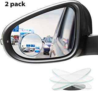 KMMIN Blind Spot Mirror, Round Convex Car Mirror Blind Spot for Universal Vehicles HD Frameless Blind Spot Mirrors 360° Rotatable for Car Great Rear View (2Pack)