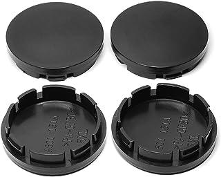Wielnaafdoppen naafkappen wielen 4 stks 56mm Zwart Chrome Auto Wiel Centrum Hub Caps Badge Embleem Decal Wheel RIM Stofdic...
