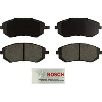 Bosch BE929 Blue Disc Brake Pad Set for Saab: 2005-06 9-2X; Subaru: 2003-06 Baja, 2003-10 Forester, 2002-14 Impreza, 2002-12 Legacy, 2002-12 Outback, 2013-14 WRX - FRONT