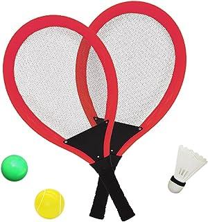 05aa61409 YIMORE Raquetas de Tenis Bádminton con Bolas Juguete para Niños - 3 en 1  Juego de