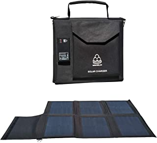 MEGASOLAR 60W Solar Charger Solar Panel with Solar Charge Controller USB Type-C PD and Quick Charge 3.0, and DC 12v 15v 20v Output, for Charging Laptop, MacBook Pro, Solar Generator, PD Type-C