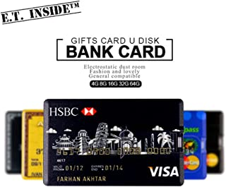 Ultra Slim USB Flash Drive 64GB Credit Card USB Memory Stick Waterproof USB Pendrive Visa Master (Pack of 6)
