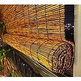 Estores Bambu Enrollables Exterior Ecological Sunshade Partition Curtain Transpirable/Impermeable con Accesorios de Instalación Decoración Interior Exterior, Tamaño Personalizable