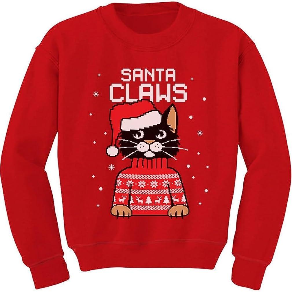 Santa Claws Cat Ugly Christmas Sweater Toddler Kids Sweatshirts