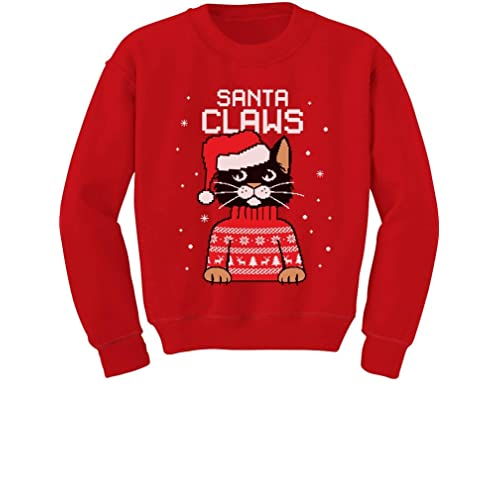 63625a80acadc5 Santa Claws Cat Ugly Christmas Sweater Toddler/Kids Sweatshirts
