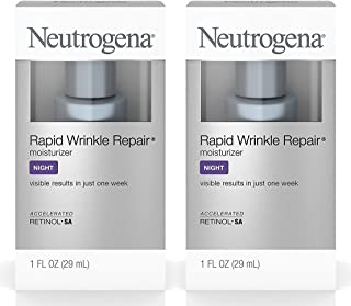 Neutrogena Rapid Wrinkle Repair Night Moisturizer LRPir, 2Units (1 Fl. Oz)