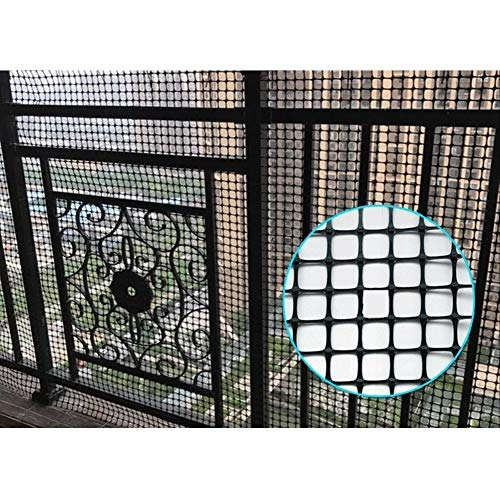 LSXIAO-Decorative Fences Plastic Wire Fence, Poultry Netting, 0.78in Square Grid Extruded Tear Resistance with Zip Tie Botanical Garden, Garden Barrier (Color : Black, Size : 1.5x10m)