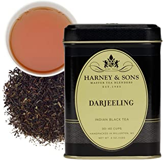 Harney & Sons Darjeeling Tea, Loose 4 Ounce tin, Black (46404)