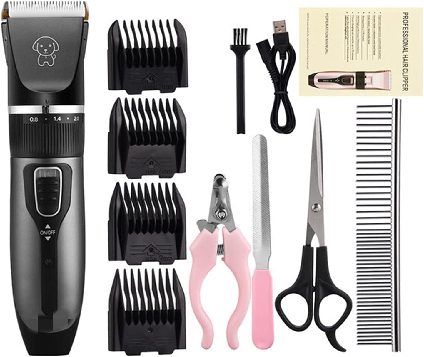 SGADSH Hair Clippers Men Cheap New mail order USB Professional Dog Rechargeable Pet H