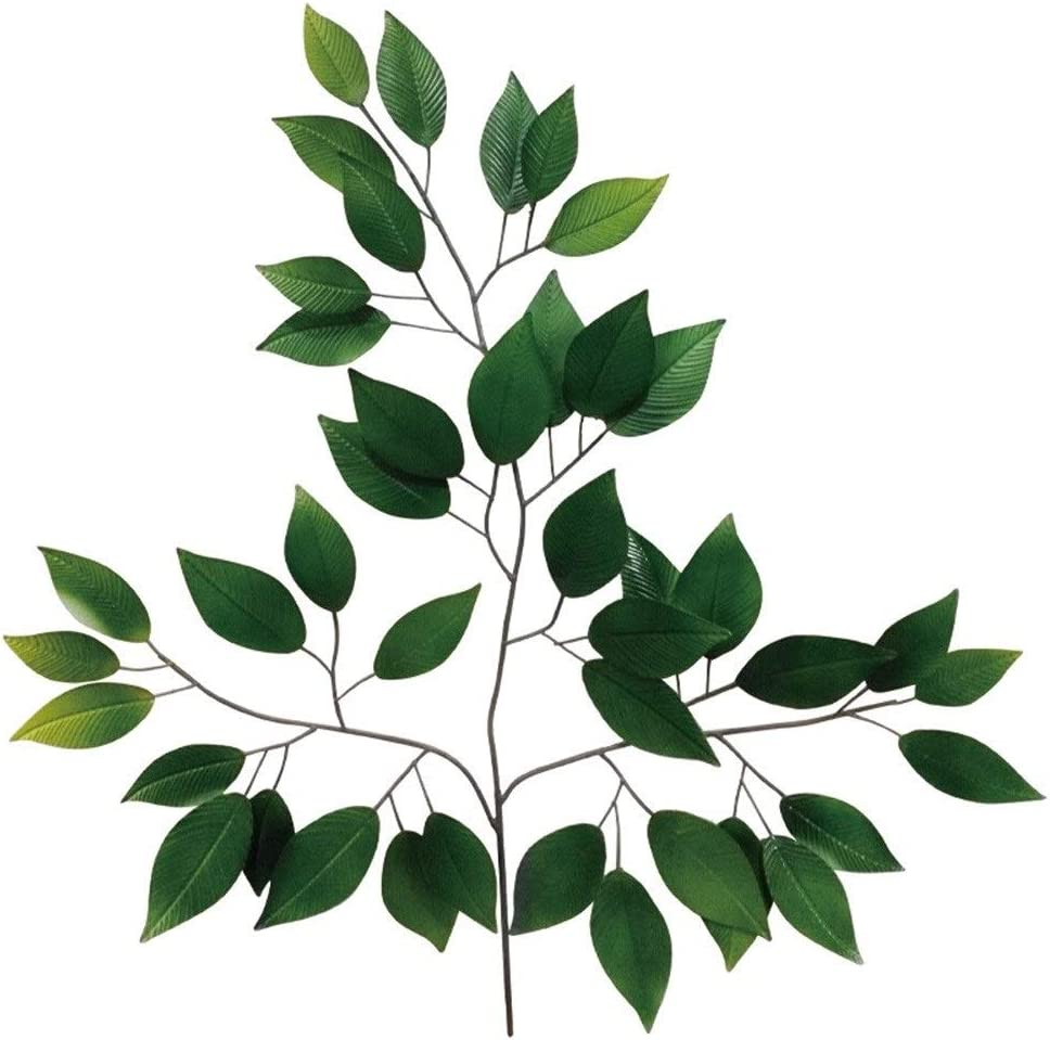 QINQIGBJ Artwork Special price for a limited time Wall Sculptures Leaf Green Metal Art Bombing free shipping