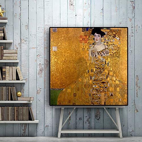 hetingyue Pintor Abstracto Retro Famosa Pintura al óleo Pop Art Poster e Impresiones Sala Imagen escandinava Pared Cuadro sin Marco Pintura 60X60 CM