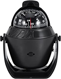 Gorgeri Boat Compass, High Precision LED Light Pivoting Compass Navigation Electronic Compass for Marine Boat Car