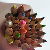 offizielles Set mit 24 Stiften in einem Etui f/ür Schule oder Uni Gunners Arsenal Football Buntstifte