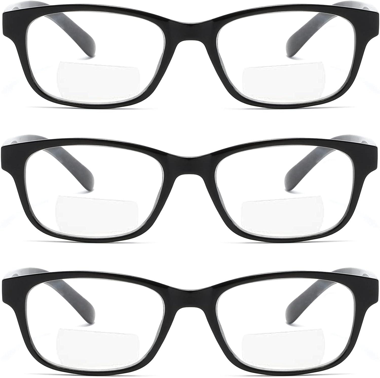 Buy Bifocal Reading Glasses for Women Reader Glasses Spring Hinge ...