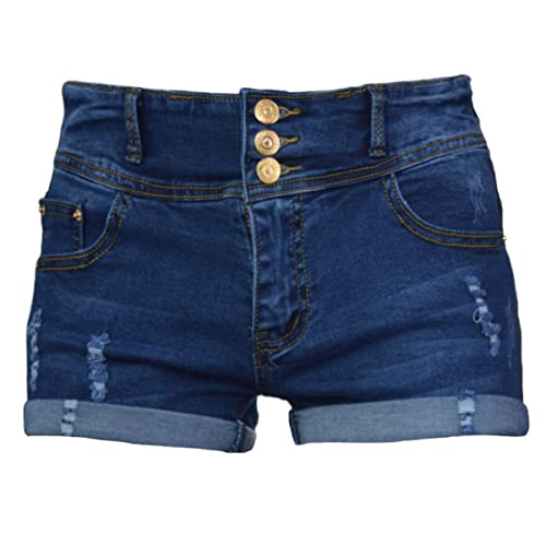 4a72b8292 PHOENISING Women's Comfy Denim Fabric Short Pants Stretchy Ripped Hole Jean  Shorts,Size ...