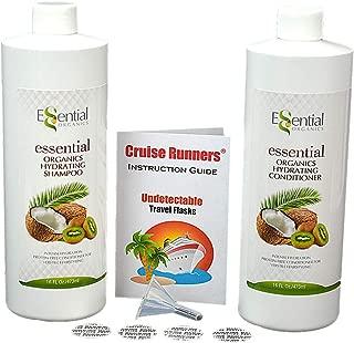 CRUISE RUNNERS Fake Shampoo & Conditioner Hidden Liquor Smuggle Alcohol Plastic Flask Kit For Booze Cruises Enjoy Rum Runners