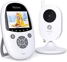 Victure Vigilabebés Inalambrico con Cámara,Monitor de Bebé Visión Nocturna Pantalla LCD de 2.4
