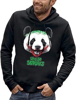 Bluza z kapturem PANDA WHY SO SERIOUS - PIXEL EVOLUTION - Mężczyzna