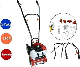RANZIX - Escarificador de gasolina, 52 cc, 2 tiempos, motor, cultivador, 2 CV, 1,45 kW