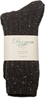 Doogan Donegal 100% Pure Wool Irish Walking Socks, Turf Fleck Colour