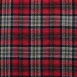 Richlin Fabrics Garngefärbter Flanell, rot und grau