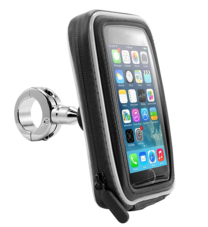 Arkon iPhone or GPS Motorcycle Handlebar Mount with Water Resistant Case